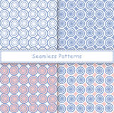Set of seamless pattern with spiral shapes Royalty Free Stock Photo