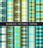 Set seamless pattern tartan Royalty Free Stock Photo