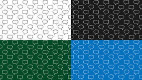Set of seamless pattern of text frames background Stock Image