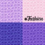 Set seamless pattern. Vector Fashion texture blue purple trandy Leather background. Merry Christmas and New Year royalty free illustration