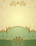 Set Seamless pattern in Victorian style Royalty Free Stock Image