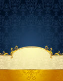 Set Seamless pattern in Victorian style Gold and D Royalty Free Stock Photos