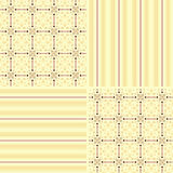 Set of seamless pattern wallpaper Stock Photography