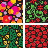 Set of seamless patterns. Vector Royalty Free Stock Photos