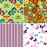 Set seamless patterns Stock Image