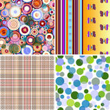 Set Seamless Patterns Royalty Free Stock Photo