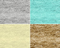 Set of seamless patterns. Seamless  abstract backgrounds/patterns in four colors Stock Photo