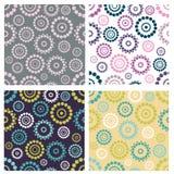 Set of seamless patterns Stock Image