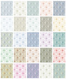 Set seamless patterns. Royalty Free Stock Images