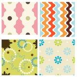 Set of seamless patterns Royalty Free Stock Photos