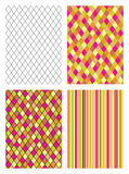 Set seamless patterns vector illustration