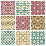 Set of seamless patterns Stock Photos