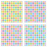 Set of seamless patterns royalty free illustration