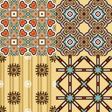 Set of seamless patterns. This beautiful patterns can be used for wallpaper, pattern fills, web page background, surface textures Royalty Free Stock Images