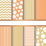 Set of seamless patterns royalty free illustration