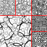 Set of seamless patterns Royalty Free Stock Photos