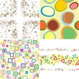 Set Seamless Patterns. Stock Photos
