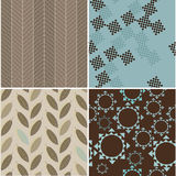 Set of seamless patterns with abstract figures Royalty Free Stock Images