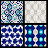 Set of seamless patterns. Abstract  geometric wallpaper. Vector. Illustration Royalty Free Stock Images