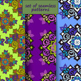 A set of seamless patterns with the Arab Islamic motifs. Vector illustration Stock Image