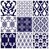 Set of Seamless Patterns in Arabian Style. Stock Images