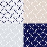 Set of seamless patterns in arabian style. Royalty Free Stock Photography