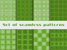 Set of seamless patterns of art deco style. Beautiful ornament in vintage style. Stock Image