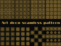 Set of seamless patterns of art deco style. Beautiful ornament in vintage style. Royalty Free Stock Image