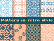 Set of seamless patterns in art deco style. Seamless background. Royalty Free Stock Photography