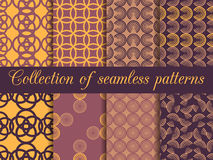 Set of seamless patterns in art deco style. Seamless background. Royalty Free Illustration