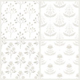 Set of seamless patterns with Australian flora Royalty Free Stock Photography