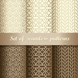 Set of seamless patterns 1 Royalty Free Stock Photos