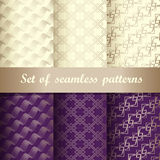 Set of seamless patterns 2 Royalty Free Stock Photo