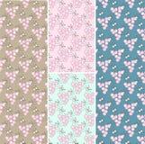 Set of 4 Seamless patterns background. Set of 4 Seamless patterns vector soft background vector illustration