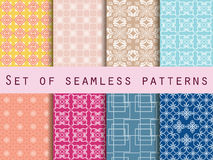 Set of seamless patterns. Baroque seamless pattern. Classic designs. Stock Photography