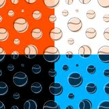 Set of seamless patterns with baseball sport balls. Team sports. Healthy lifestyle. Ornament for printing and decoration of sports