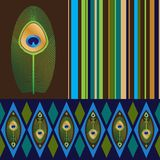 Set of seamless patterns in bright colors Royalty Free Stock Photography