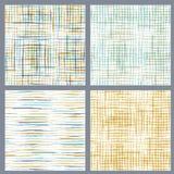 Set of seamless patterns of brush flourishes. Royalty Free Stock Image
