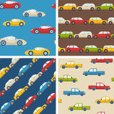 Set of seamless patterns with cars Royalty Free Stock Images