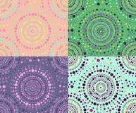 Set of seamless patterns of circles Royalty Free Stock Image