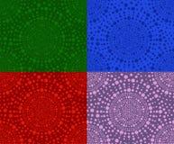 Set of seamless patterns of circles Stock Photos