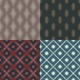 Set of 4 seamless patterns Royalty Free Stock Photography