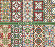 Set of seamless patterns. In the classical style for festive wrapping paper. Ornaments with oriental motifs. Suitable for textiles, scrapbooking or your design Royalty Free Stock Image