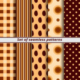 Set of seamless patterns coffee Stock Image