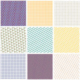 Set of seamless patterns collection Royalty Free Stock Photos