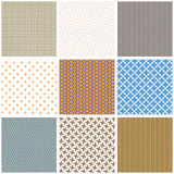 Set of seamless patterns collection Stock Images