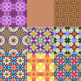 Set of seamless patterns. Stock Photo