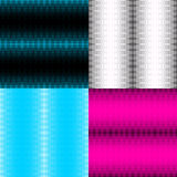 Set of seamless patterns with cross halftone Royalty Free Stock Photo