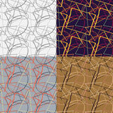 Set of seamless patterns Stock Photography