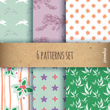 Set of the seamless patterns Stock Photography